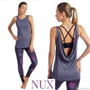 Nux Draped Open Back Take It Easy Yoga Tank XL 12